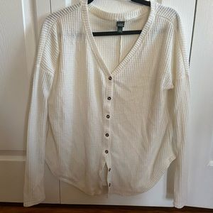 Waffle pattern cream sweater from Target